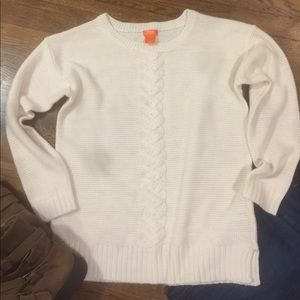 JOE Fresh cream Cable Knit front sweater
