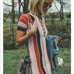 Tularosa | striped knitted dress
