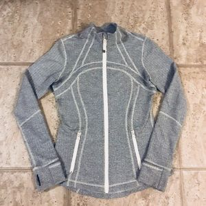 Lululemon Define Jacket Herringbone Ghost Size (8)