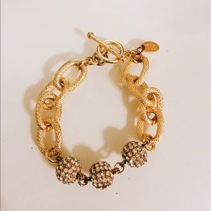 Oia Jules aka Elizabeth Stone Pave Chain Bracelet