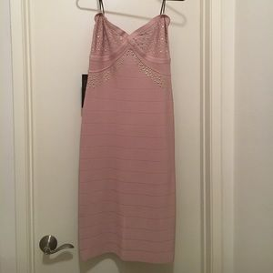 Pink strap or strapless dress