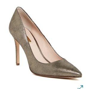 Louise Et Cie Seville Metallic Silver Pumps Heels