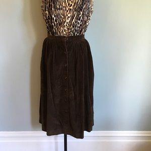 Vintage Sears // 70s Corduroy Skirt // Size 12