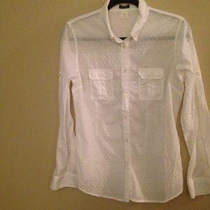 J Crew 100 % cotton blouse size L.
