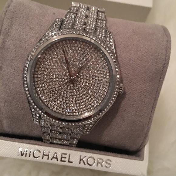 41d74b005abc MK Glitz Lauryn bracelet watch