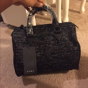 Black and silver Zara bag New never used with tag