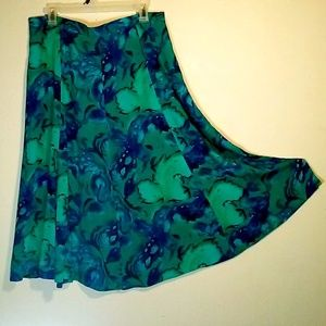 Flowy 2 Piece Skirt and Shirt Set - XL - Vintage