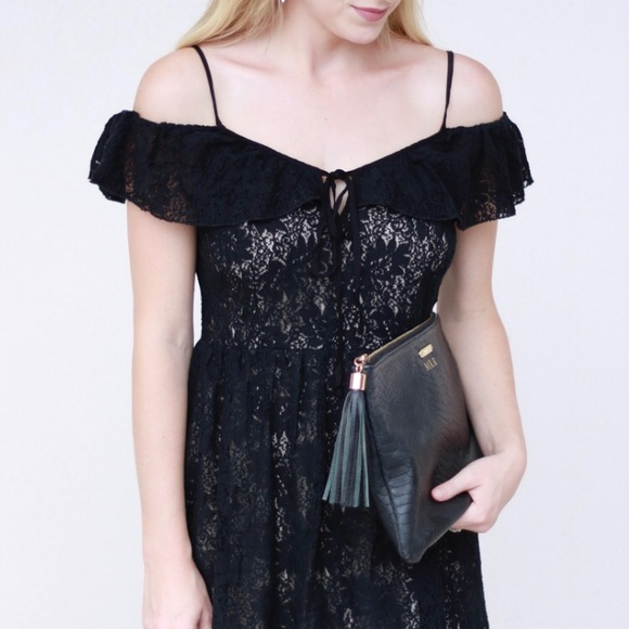 Dresses & Skirts - Cold Shoulder Lace Dress S-M-L