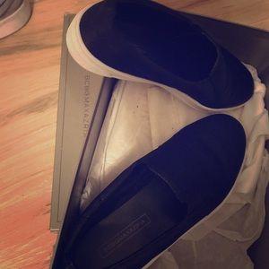 BCBG satin loafers