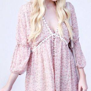 Floral Boho Dress Small & Large Size