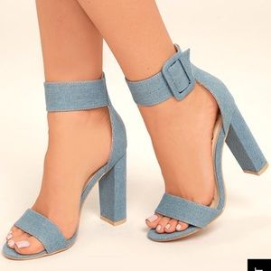 NWT Denim heels