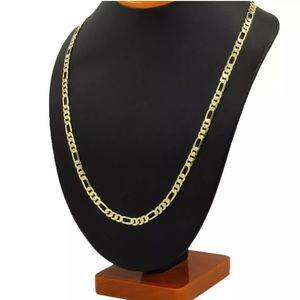 """14K Gold Stamped Figaro Necklace Chain 20"""""""