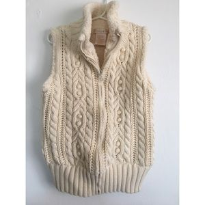Fleece Lined Sweater Knit Vest