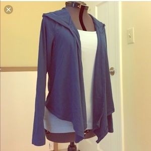Express Purple Sexy Stretch Hooded Cardigan