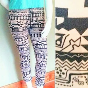 Urban Outfitters, L, Tribal Jogger Pocket Leggings