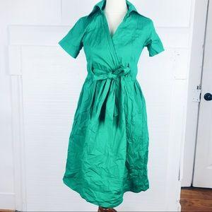 Shabby Apple green faux wrap Dress small