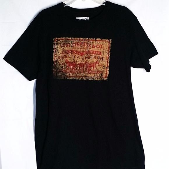 be7678b64 Levi's Shirts | Levis Graphic Tee Shirt Mens L Black Jean Label ...