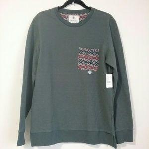 On The Byas Medium Sweatshirt Tribal Print Pocket