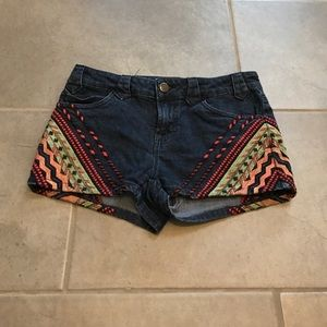 Urban outfitters BDG embroidered shorts.