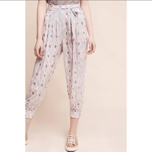 NWT Anthropologie Geometric Button Hem Joggers