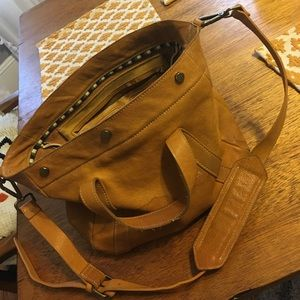 Made well leather Stockholm satchel in mustard