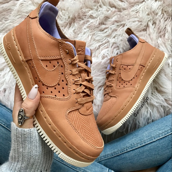new arrival c464a 697fb NWT Nike Air Force 1 cognac leather rare