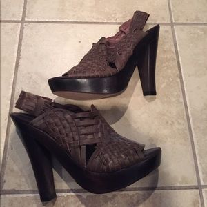 7 for all mankind leather heels