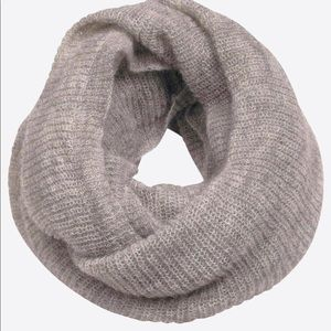 Grey Mohair Infinity Scarf NEW