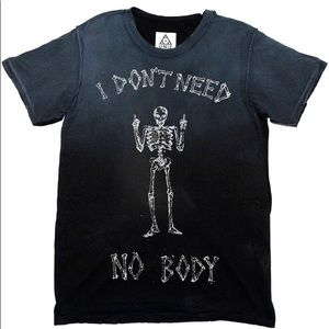 "UNIF ""I don't need no body"" shirt goth"