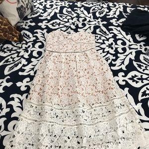 Lulu's lace strapless dress