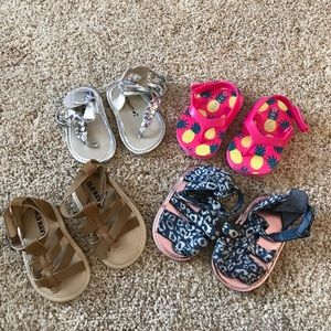 Bundle of 4 infant sandals
