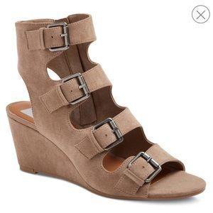 "Dolce Vita ""Leeann"" suede wedge heel sandals"