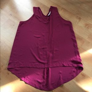 14th & Union Sleeveless Purple Blouse in 1X