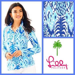 NWT Lilly Pulitzer Printed Popover, Tropi Call Me