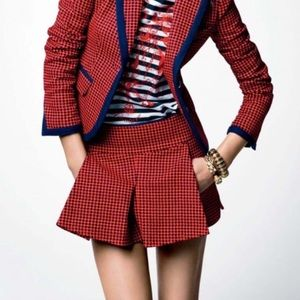Juicy Couture Red and Navy Blue Plaid Mini skirt