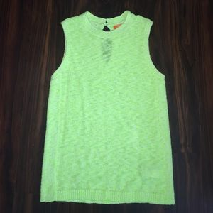 Neon yellow sleeveless sweater