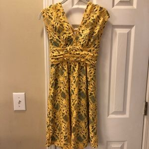 Anthropologie by Tracy Reese yellow dress