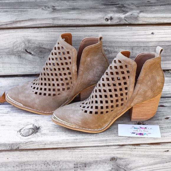 83d464b71a133 Mi.iM Shoes   Miim Vera Ankle Booties Diamond Laser Cutout Boot ...