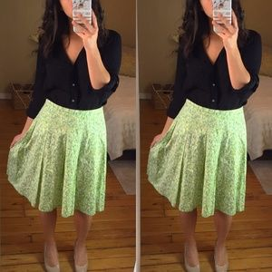 Green & Yellow Apple Circle Skirt by New York & Co