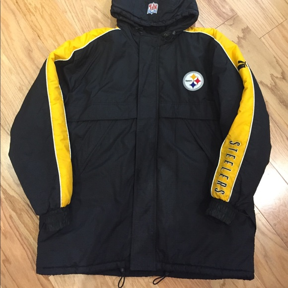 online store 3e4e2 1bb47 Men's puma NFL Pittsburgh Steelers Jacket L large
