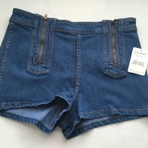 Free People Blue Magic High Waisted Shorts- NWT