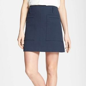 NWT - Theory Navy A-line skirt US 12