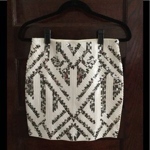 Express Aztec Sequined Skirt