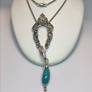 Jewelry - Victorian 925 Sterling Silver Turquoise Necklace