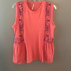 Tops - Free People embroidered tank