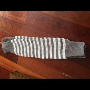 Shoes - Leg warmers grey white striped