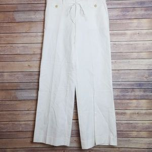 Gap Wide Leg Linen Trouser Pants