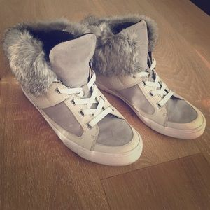 Rebecca minkhoff Shiloh genuine fur sneakers