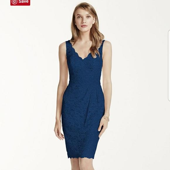 97089a667b7 David s Bridal Short Tank Lace Dress 🎉 HOST PICK