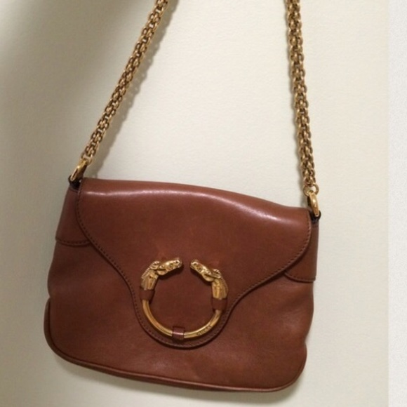 01bfd5665c5 Gucci Bags | Authentic Brown Leather Horse Head Purse | Poshmark